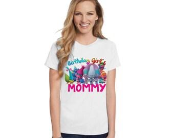 Trolls Birthday T-Shirt - Family Members