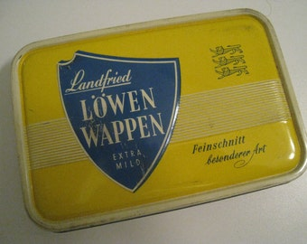 Landfried LöwenLappen tabac empty tin