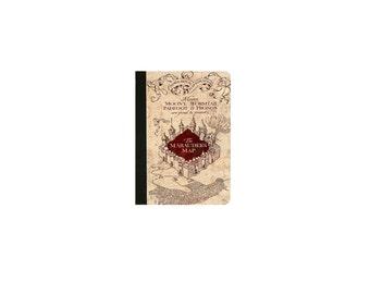 Harry Potter - MARAUDER'S MAP Inspired  Faux Leather Folio/Book Case for IPad Mini 1,IPad Mini 2 , IPad Mini 3 , IPad Mini 4