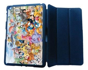 Disney All Characters IPad 2/3/4 Case IPad Mini1 /Mini2/Mini3/Mini 4 Case IPad Air Case IPad Air 2 Pro 9.7 Ipad Smart Flip Case