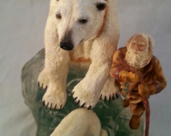 "Vintage ""Polar Express"" Santa's World Travels Collection by Maruri USA Corp."