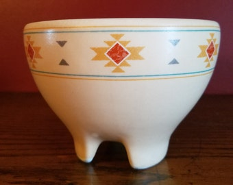Treasure Craft vintage footed salsa bowl- southwest design