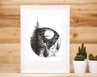 Pine Tree Valley Artwork