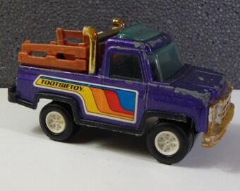 Tootisetoy 4X4 Truck Vintage Purple Tootsie Toy Pick Up Truck