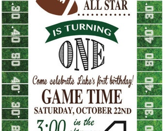Football Birthday Invitation, 5x7