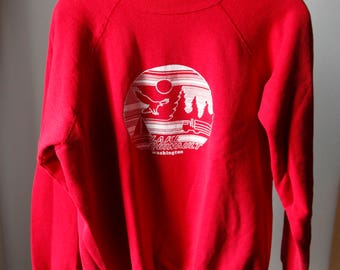 Vintage Lake Quinault Washington Sweatshirt Made in USA