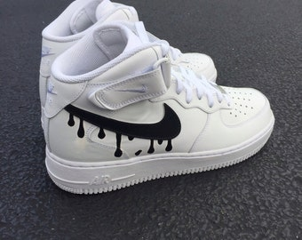 custom nike air force ones size 14