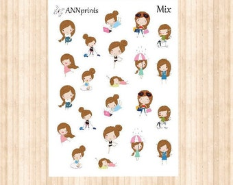 Girl planner stickers