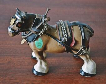 Clydesdale Horse, Draft Horse, Vintage Melba Ware, Ceramic Horse Figurine