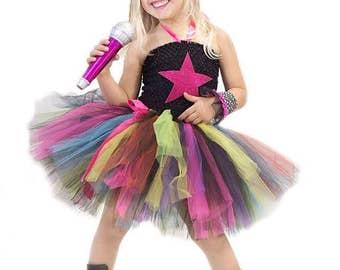 Rock Star costume - rock star - punk rocker tutu dress - tutu dress - rock star birthday party - rock star outfit - rock star dress
