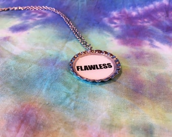 Flawless Pendant Necklace - Flawless Necklace - Body Positive Necklace - Flawless Jewelry - Feminist Necklace