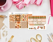 Foxy Weekly Sticker Kit - Set of 39 Planner Stickers perfect for Erin Condren Life Planner, Kikki K or Filofax Planner and more...