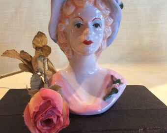 Vintage head vase Queen Elizabeth 2 or Queen mother replica figurine
