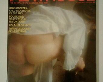 Vintage Penthouse Magazine February 1975 Very Good Condition  Erotic Nudity Photos