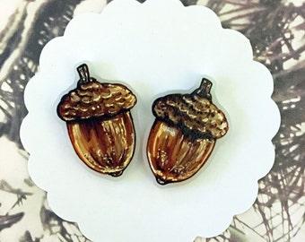 FALL Acorn Earrings