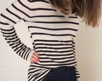 Striped Sweater Dress (S)