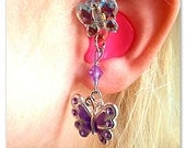 Hearing Aid Charms:  Stunning Jeweled Butterflies with glass accent beads  (also available in matching Mother Daughter Sets)! ***