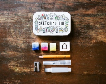 The Sketching Tin by Joan of Art. Everything you need to sketch and paint on the go in a pocket sized tin!