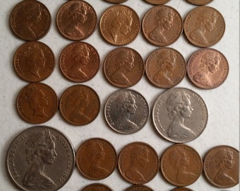 33 australia vintage coins 1966 - 1990  - coin lot cents - world foreign collector money numismatic a66