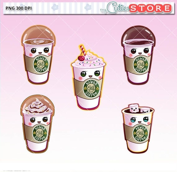 Starbucks clipart Coffee kawaii clipart digital by ...