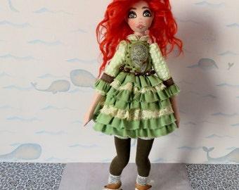 Big textile selfstanding soft art doll Michelle