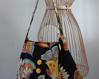 Black, Multi-Colored, Messenger Bag