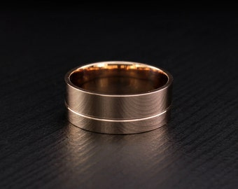 Wide wedding band, Large wedding ring, Gold wedding band, Shiny gold ring, Wedding band for men or women, Minimal wedding ring, Custom ring