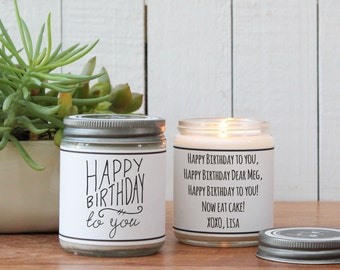 Happy Birthday To You Soy Candle | Candle Birthday Gift | Candle Birthday Card | Send a Birthday Gift | Birthday Cake Scented Candle