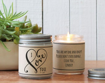 I Love You A Lot Soy Candle | Valentine's Day Gift | Valentine for Wife | Boyfriend Gift | Husband Gift | Valentine's Day Candle