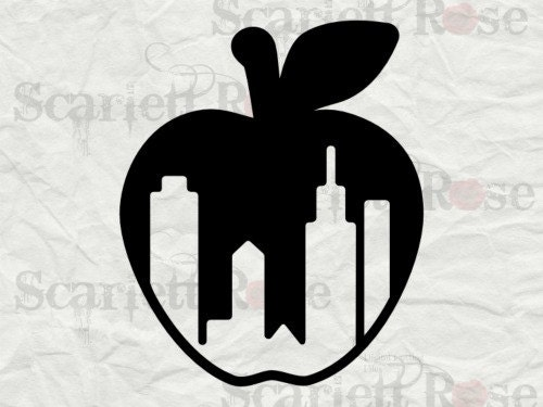 New York City Nyc Big Apple Skyline Svg Cutting File Clipart