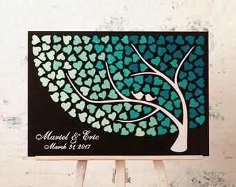 Wedding Guest Book Alternative Wedding 3D guest book Wood Rustic wedding guestbook Unique guest book Turquoise Wedding Ideas wedding decor