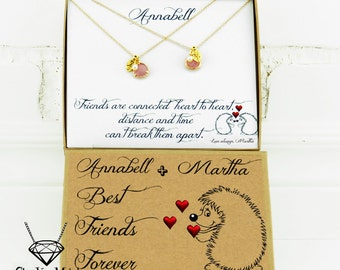 Best friend Gifts for Best friend Personalized best friend necklace for 2 Long distance friend Friendaversary Best friend birthday gift