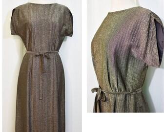 Carl Naftal Originals California Metallic Wiggle Dress
