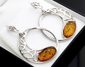 Honey Amber Earrings, Boho Earrings, Boho Bridal Earrings, Boho Earrings Women, Boho Earring Set, Boho Jewelry Cheap, Baltic Amber Boho