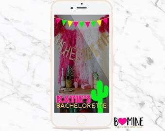 CUSTOM BACHELORETTE SNAPCHAT Geofilter, Neon Cactus, Snapchat Filter, Bachelorette Party, Bachelorette Snapchat, Cactus, Birthday Snapchat
