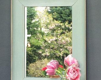 Gorgeous Vintage Old Pine Mirror