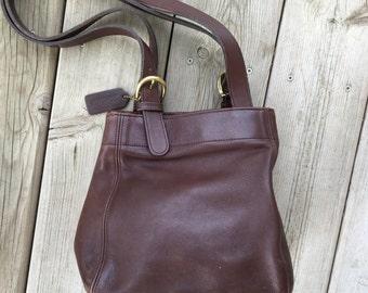 Vintage Brown Coach Leather Purse