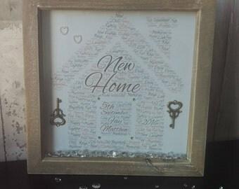 New Home Wordart Frame