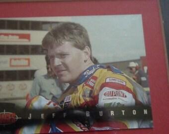 Jeff Burton framed and matted set of nascar cards