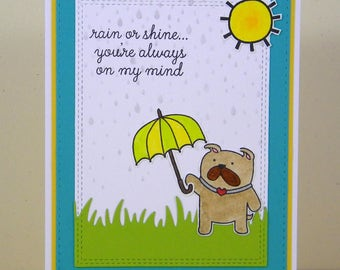 Bulldog Thinking of You, Bulldog Card, Dog Thinking of You, Dog Feel Better Soon Card