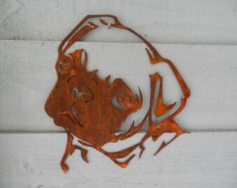 Pug Decor / Pug Gift/ Pug Garden Art / Dog Wall Sign / Dog Memorial / Dog Lover Gift / Dog Wall Art / Rusty Metal Pug Head