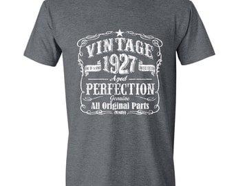 90th Birthday, 90th Birthday Gift, 90th Birthday Gift for Him. 90th Birthday Idea for 1927 Birthday, 90th, Birthday Shirt, 90 GRAY 1927