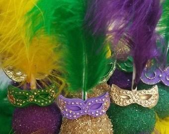 Masquerade Cake Pops, Mardi Gras cake pops
