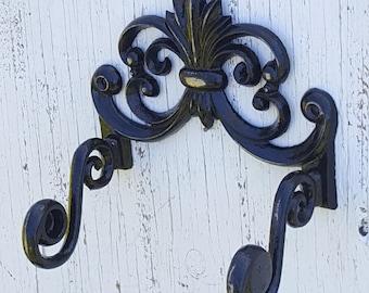 Cast Iron Hook, Fleur De Lis Wall Hook, Cast Iron Coat Hook, Towel Hook, Bathroom Hook,  Fleur De Lis Wall Art, Fleur De Lis Wall Decor