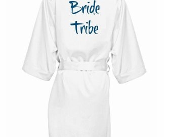 HIGH QUALITY! Bride Tribe robe  perfect for bridal party, bridesmaid, bachelorette party.