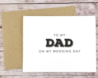 To My Dad On My Wedding Day Card, Dad Card, Wedding Day Card, Father of the Bride, Father of the Bride Gift  - (FPS0039)