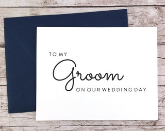 To My Groom On Our Wedding Day Card, To My Groom Card, Wedding Day Card, Wedding Gift, Card To Groom From Bride  - (FPS0016)