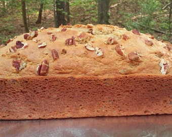 Loaf (9 x 5) of APPLESAUCE-PECAN-BREAD, homemade, made from scratch