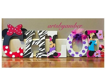 Minnie Mouse custom wall letters