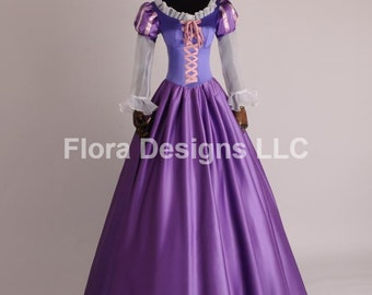 Rapunzel costume Rapunzel Dress Adult dress girl dress